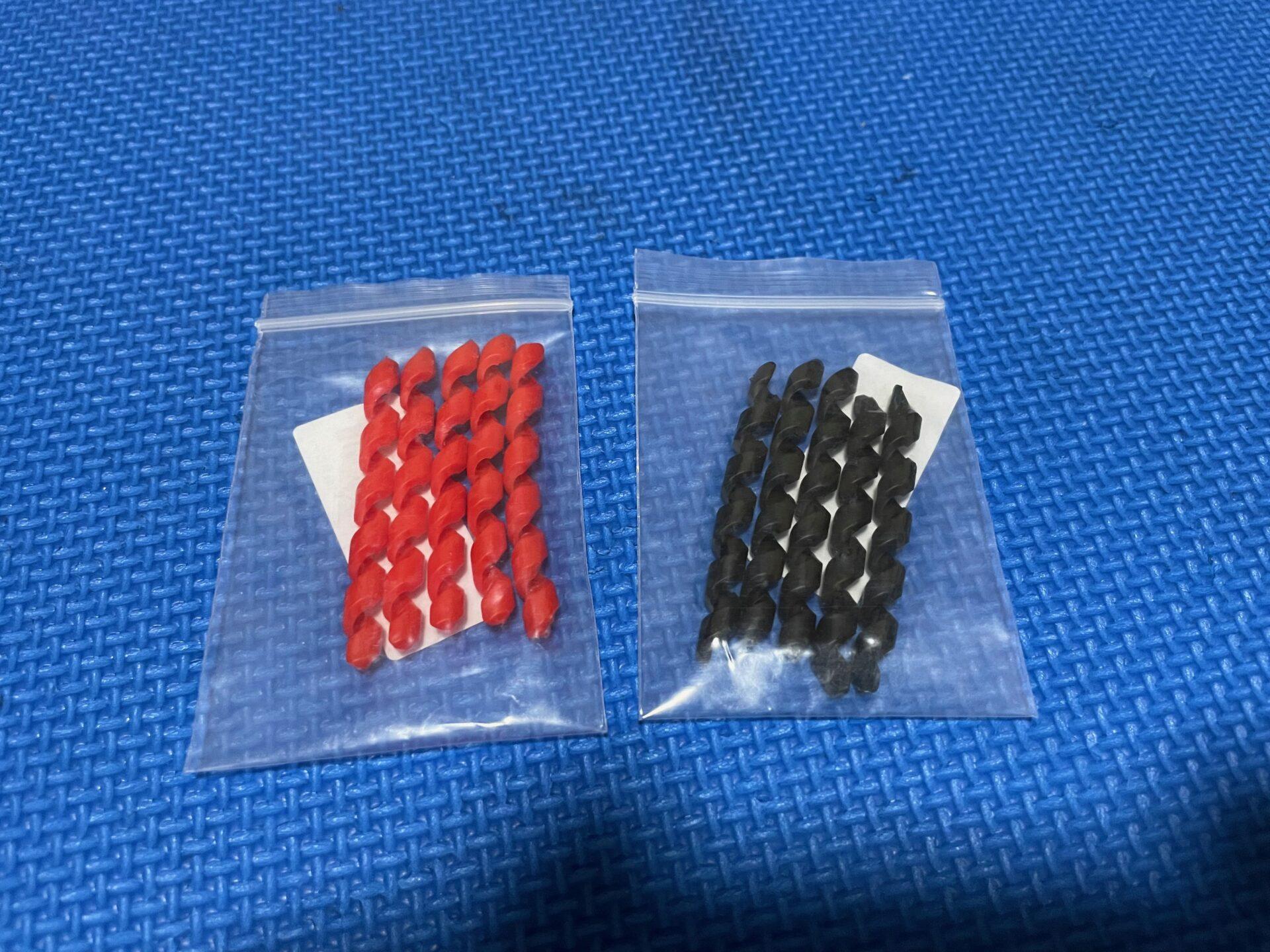 ロードバイク ワイヤープロテクター 赤 黒