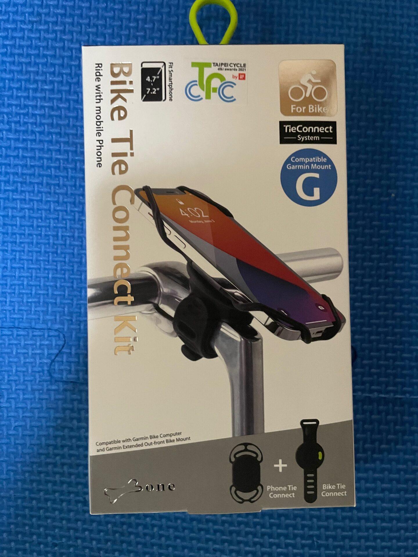 ロードバイク スマートフォンホルダー Tie Connect System (Bike Tie Connect) 箱