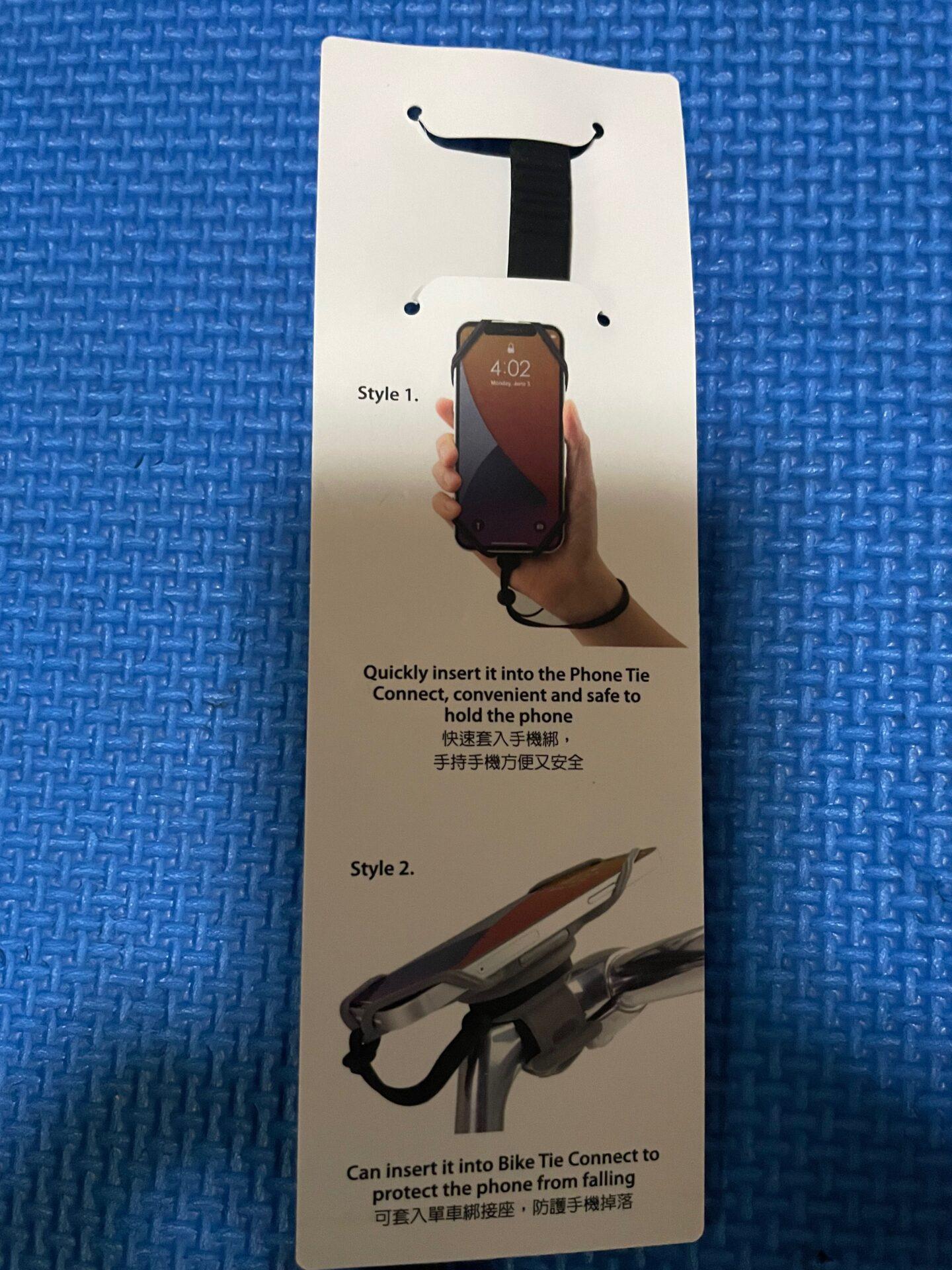 ロードバイク スマートフォンホルダー Tie Connect System (Bike Tie Connect) ストラップ 説明