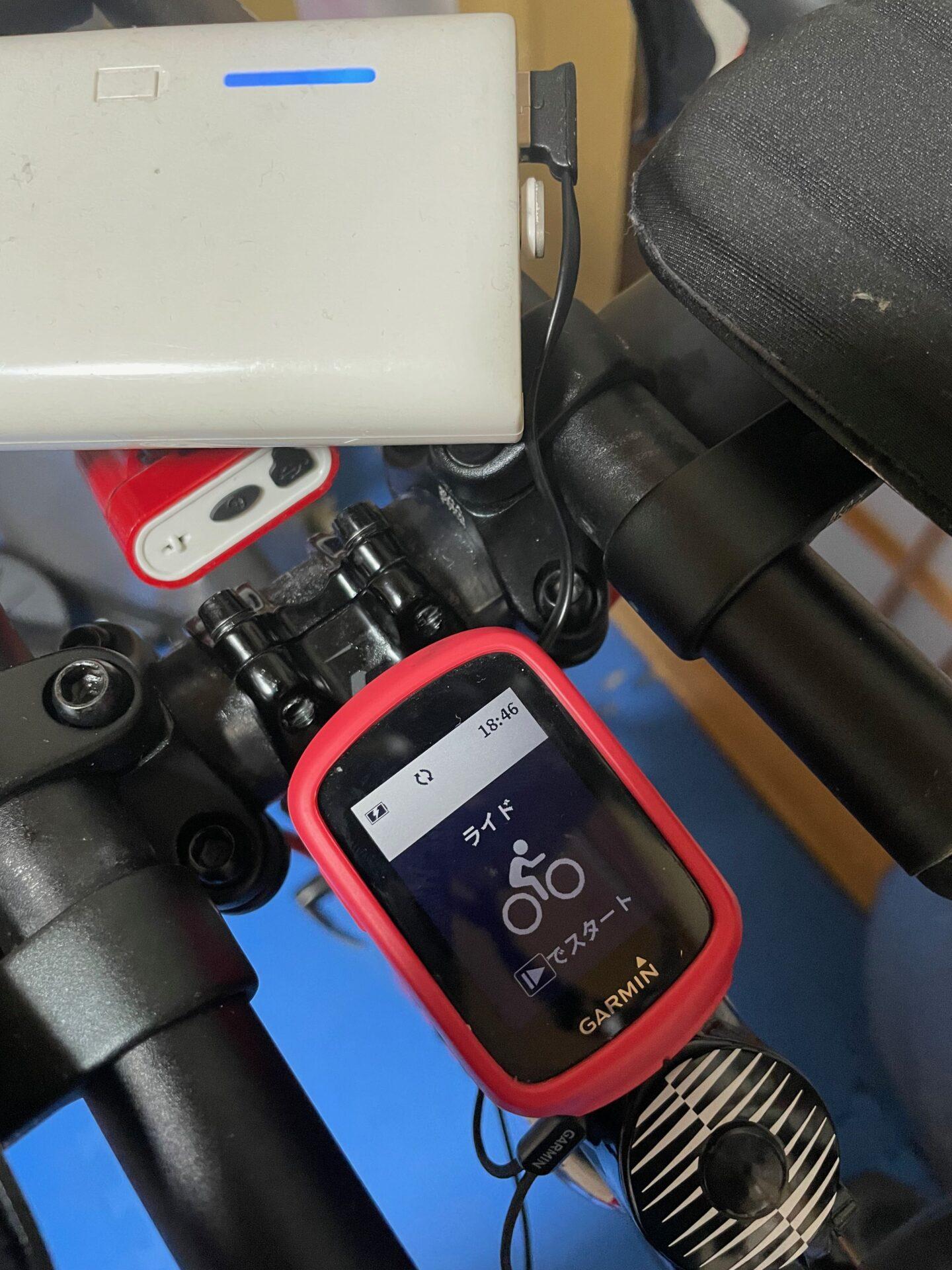 L字端子 Gamin EDGE ステム クリアランス 問題なし 充電可能