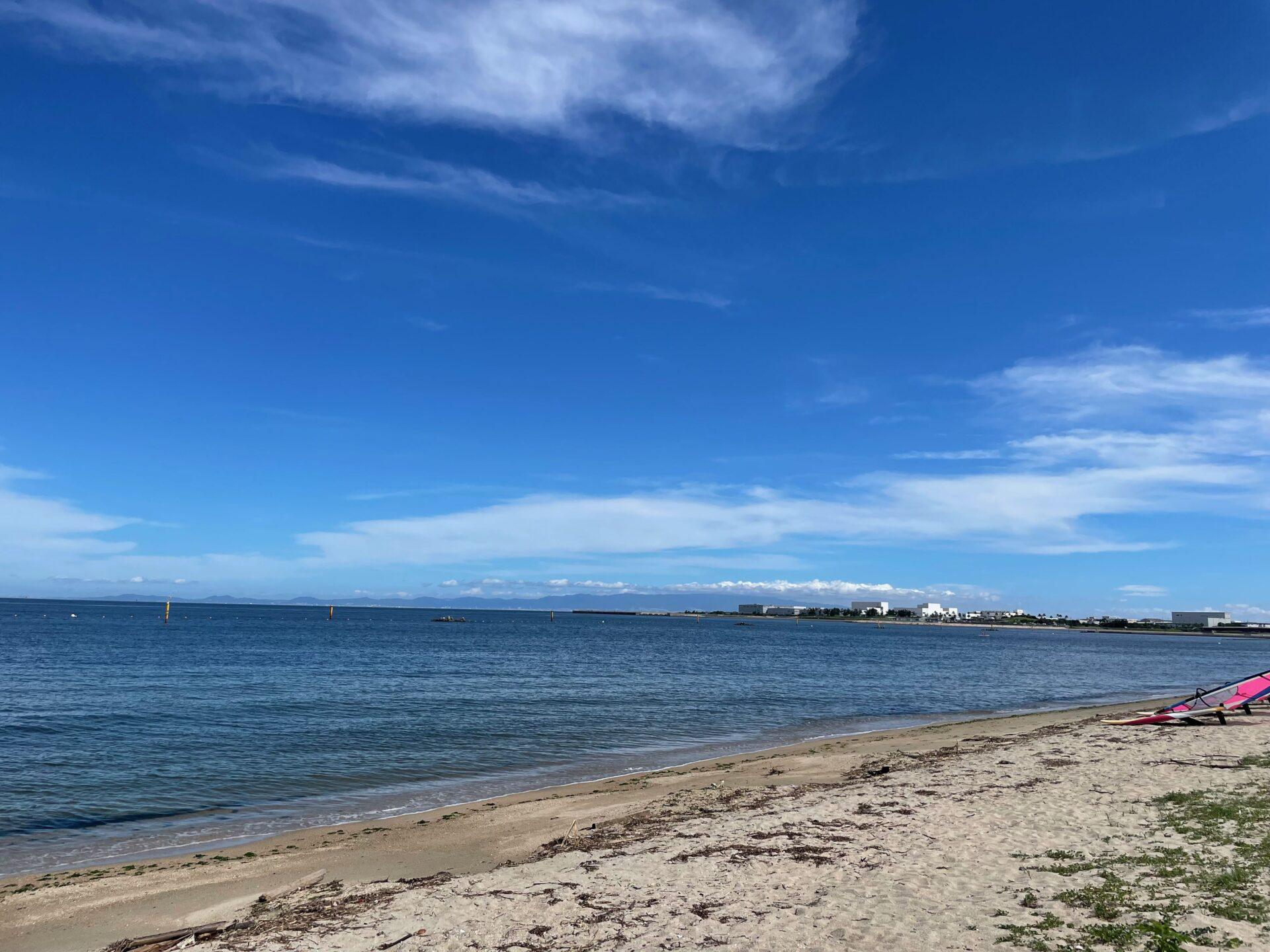 二色の浜 ランニングとOWS練習会 海綺麗 空綺麗