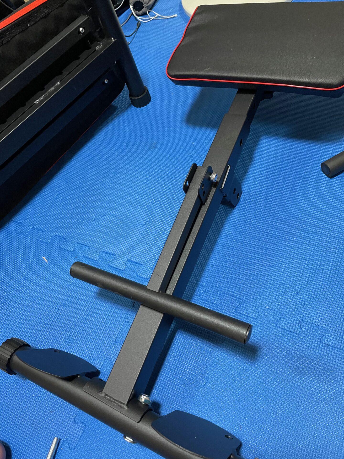 宅トレ トレーニングベンチ 組み立て方法 脚
