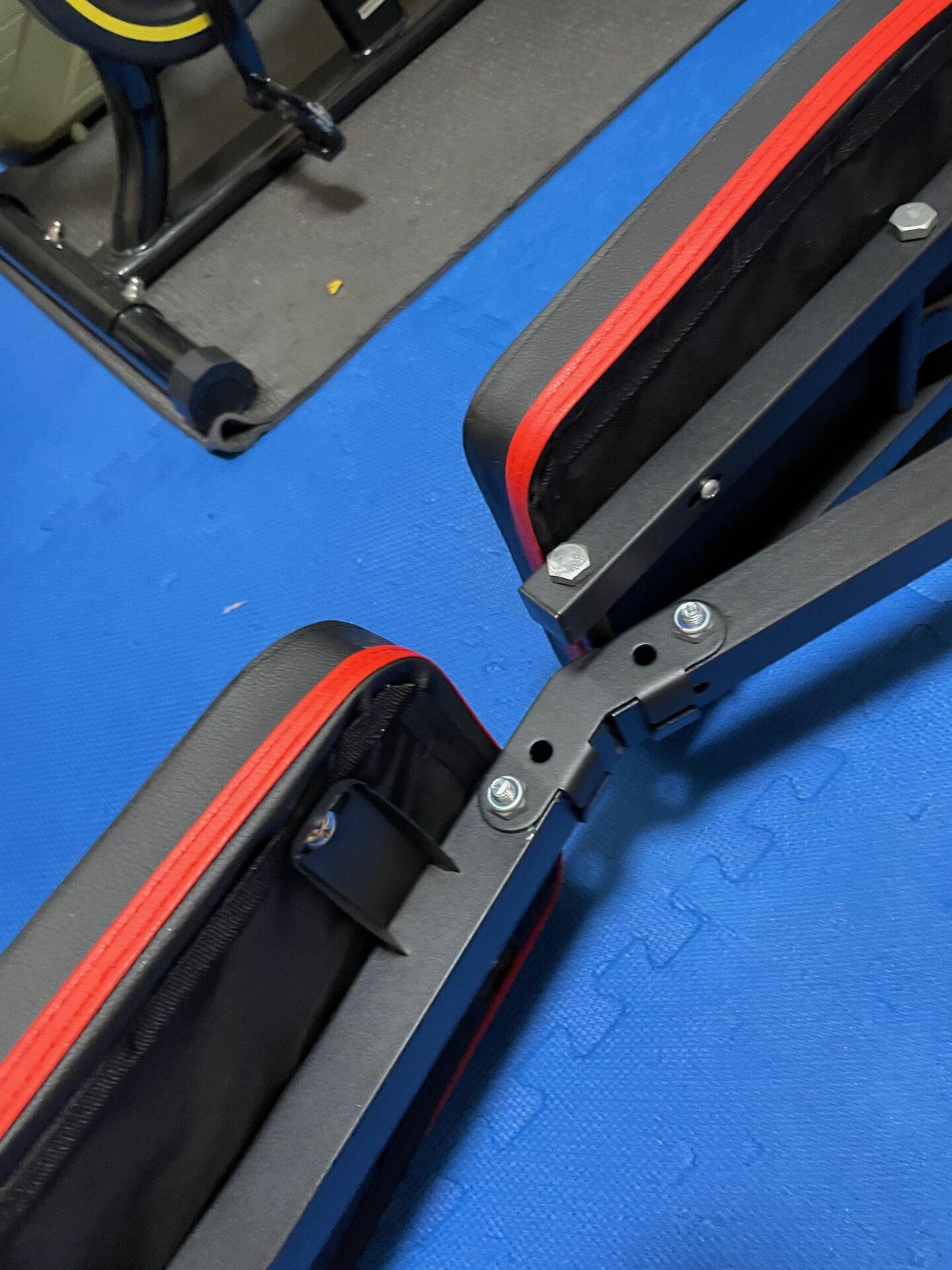 宅トレ トレーニングベンチ 組み立て方法 固定