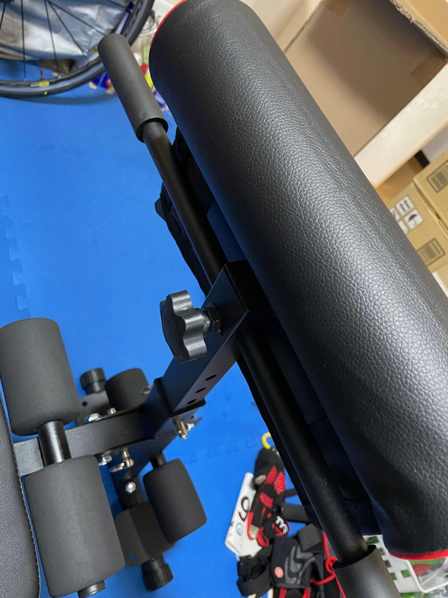 宅トレ トレーニングベンチ 組み立て方法 棒 固定