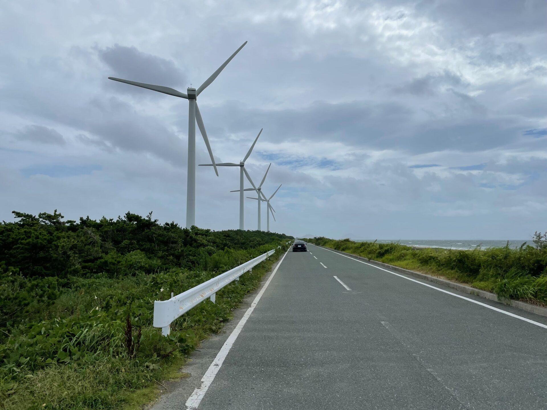 伊良湖トライアスロン バイクコース 風車 折り返し地点