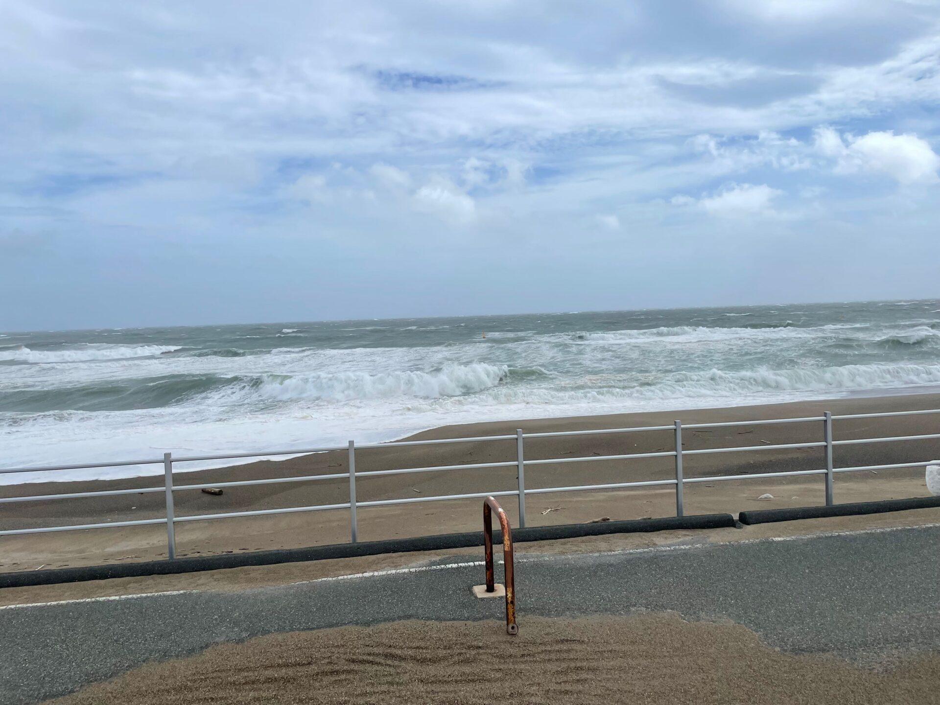 伊良湖 台風時の海
